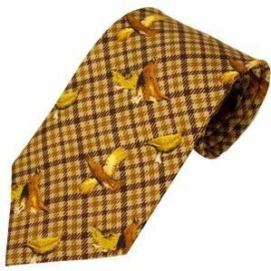 No.23 Tie Brown Grouse Silk Tie by Bisley