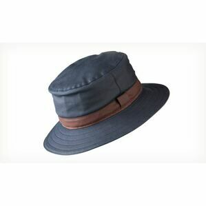 Olney NAVY (BROWN TRIM) Wax Spey Hat