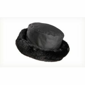 Olney BETH BLACK Wax & Fur Hat