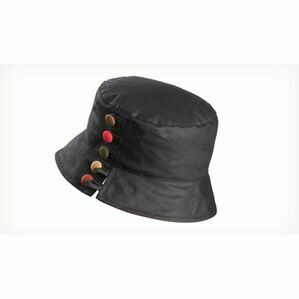 Olney OLIVIA BLACK/REDWax Split Brim & Buttons Hat