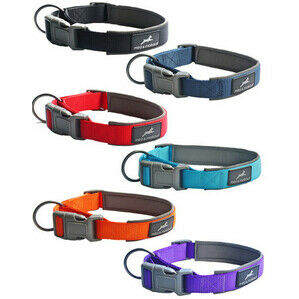 MIRO&MAKAURI Padded Nylon Dog Collars 25mm 45-50mm