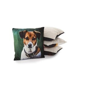 Soft touch cushion - Amber the Jack Russell