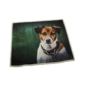 Country Matters Soft Touch Throw Amber the Jack Russell