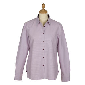 Hoggs of Fife Brodie Ladies Country Checked Shirt - Lilac