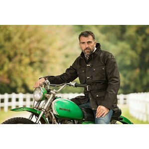 Baleno Black Drifter Men's Waxed Jacket