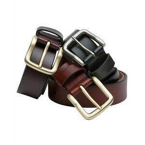 Hoggs of Fife Black Luxury Leather Belt