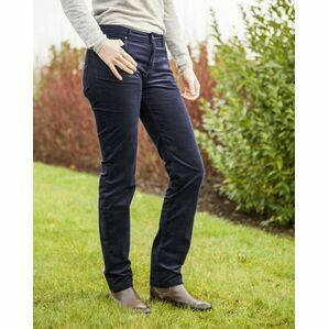 Baleno Valerie Cord Ladies Trousers - Navy Blue