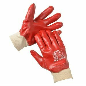 Mitchell Red PVC Knit Wrist Gloves