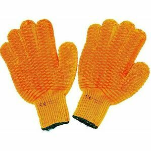 Mitchell Yellow Criss Cross Grip Work Gloves