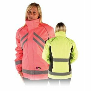 Hi Vis Waterproof Riding Jacket - Yellow/Black