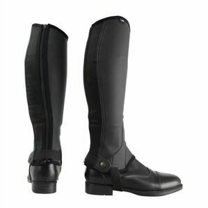 HYLAND CHILDS BLK SYNTHETIC COMBI LEATHER CHAPS