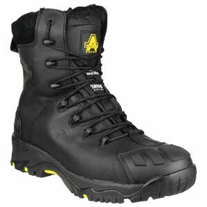 Amblers FS999 Hi Leg Composite Leather Safety Boot in Black