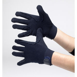 Hy5 Cotton Pimple Palm Riding Gloves - Navy