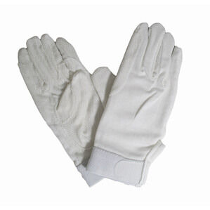 Hy5 Cotton Pimple Palm Riding Gloves - White