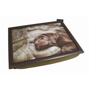Country Matters Lap Serving Tray - Lab pup on boot