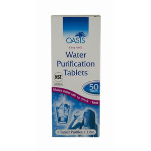 Oasis Water Purification Tablets x 50