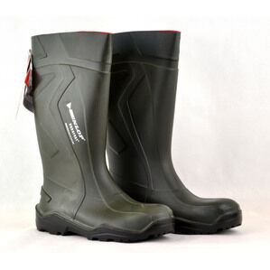 Dunlop Purofort Green Wellington Boots