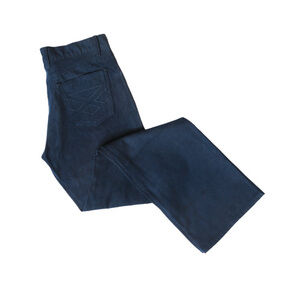 Hoggs Of Fife Ladies Stretch Moleskin Jeans (Straight Leg) - Navy