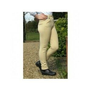 Gallop Equestrian Childrens Classic Plain Jodhpurs in Beige