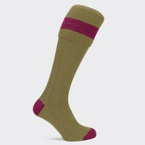 Pennine Byron Shooting Sock Sage/Cherry