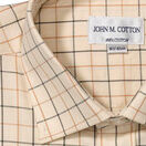 John M Cotton Brown/Country Green Check Mens Country Cotton Shirt additional 2