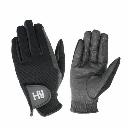 HY5 Black Ultra Grip Warmth Riding Gloves