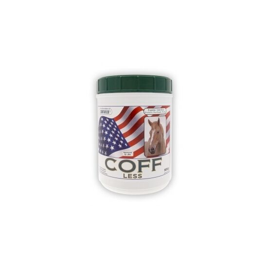 Coff-Less Powder. Aids upper and lower respiratory health Equine America