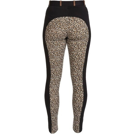 HyPerformance Alyssa Ladies Jodhpurs Black/Leopard Print