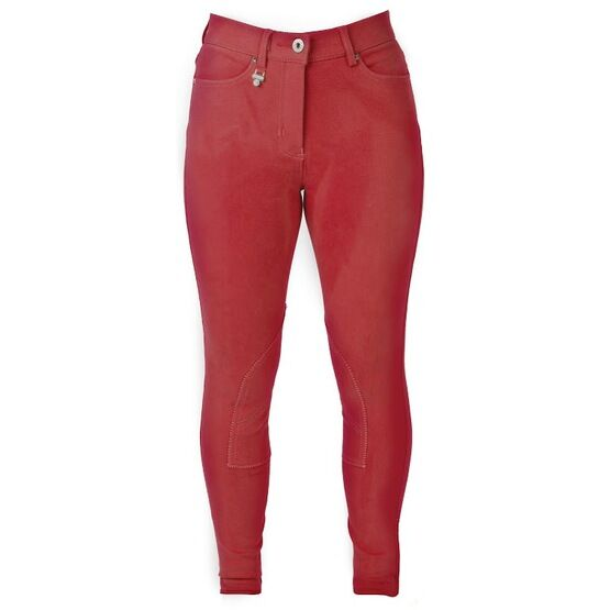 HyPerformance Bright Denim Ladies Breeches - Red