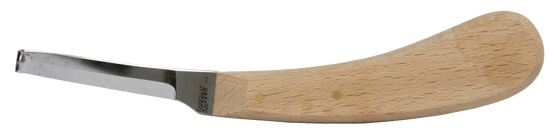 Aesculap Hoof Knife, narrow bladed, right hand with redwood handle.