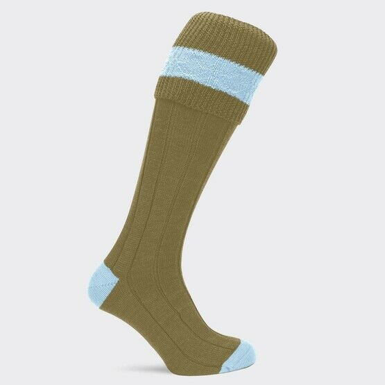 Pennine Byron Ladies Shooting Socks Baby Blue
