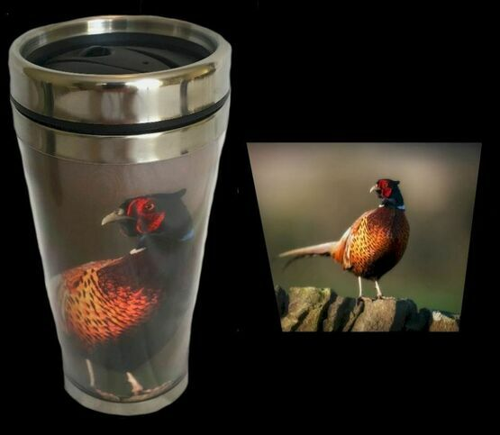 Country Matters Pheasant On Wall Travel Mug