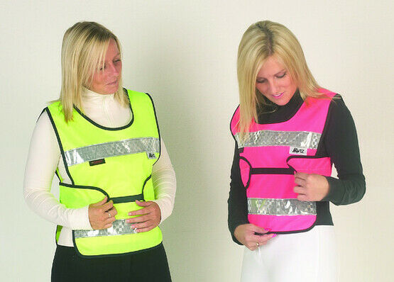 HyViz Reflective Adjustable Tabard Pink And Black